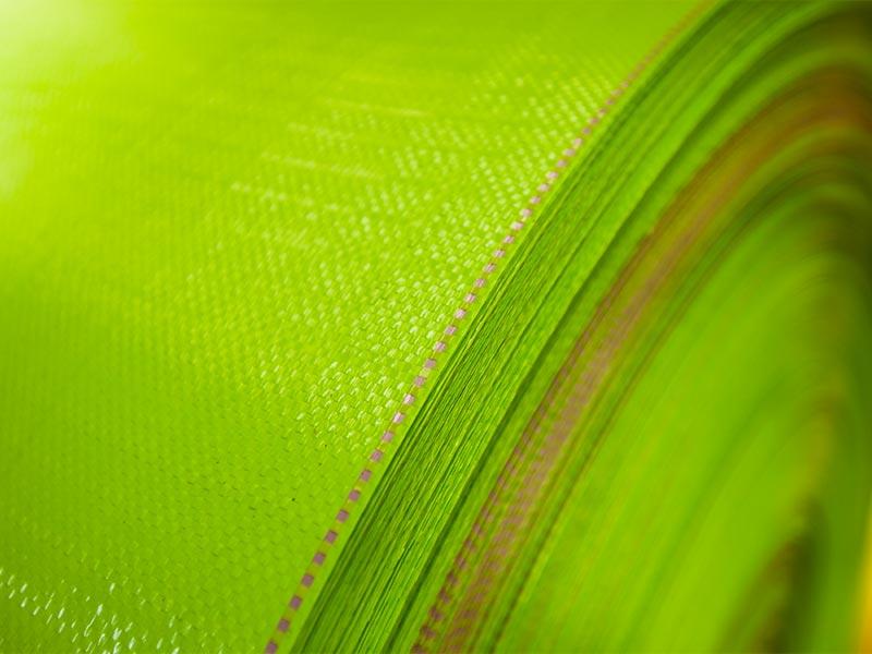 Toile simple en polypropylène tissée vert
